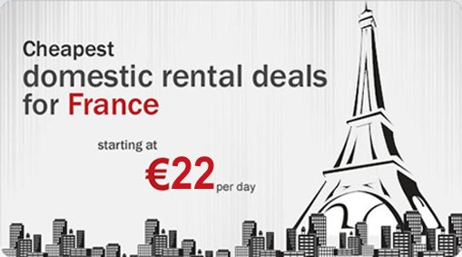 Cheapest domestic rental deals for france